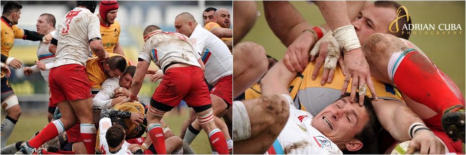 Meciul de rugby dintre nationala Romaniei si cea a Rusiei