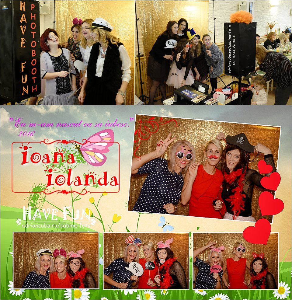 Petrecere botez la cabina foto Iasi Have Fun photobooth.