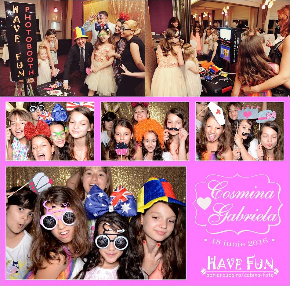 Fotografii la cabina foto Iasi have fun photobooth petrecere copii, photo booth nunta Iasi