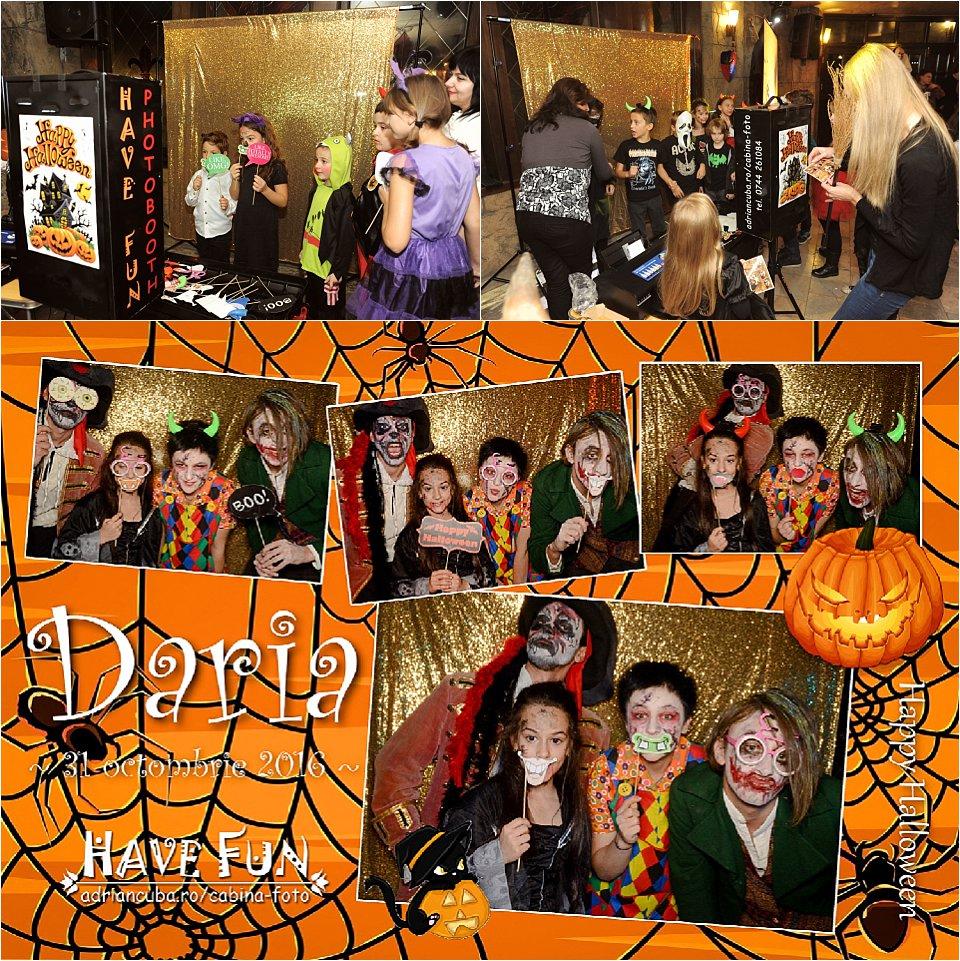 Cabina foto Iasi Have Fun photobooth la petrecerea de Halloween a copiilor.