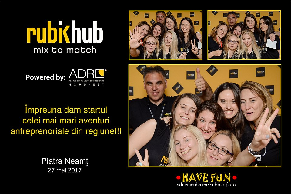 Cabina foto Have Fun la Piatra Neamt, eveniment corporate RubikHub powered by ADR Nord Est