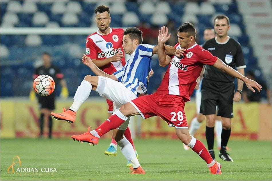 Meciul de fotbal dintre CSM Politehnica Iasi si Gaz Metan Medias, scor 3-1, disputat pe stadionul Emil Alexandrescu din Iasi, in Liga I 2016-2017