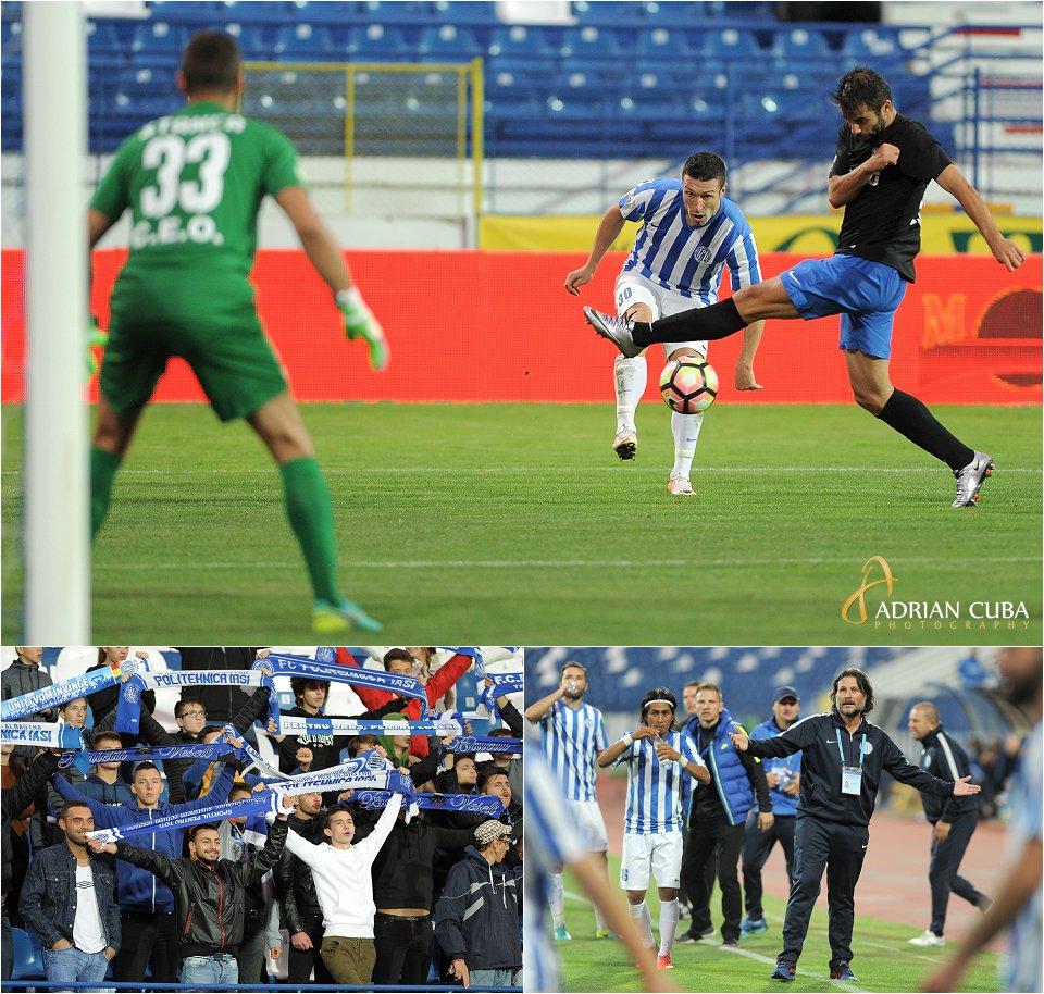 Meciul de fotbal dintre CSM Politehnica Iasi-Pandurii Tg Jiu 3-2, Adrian Cuba fotograf sport Iasi
