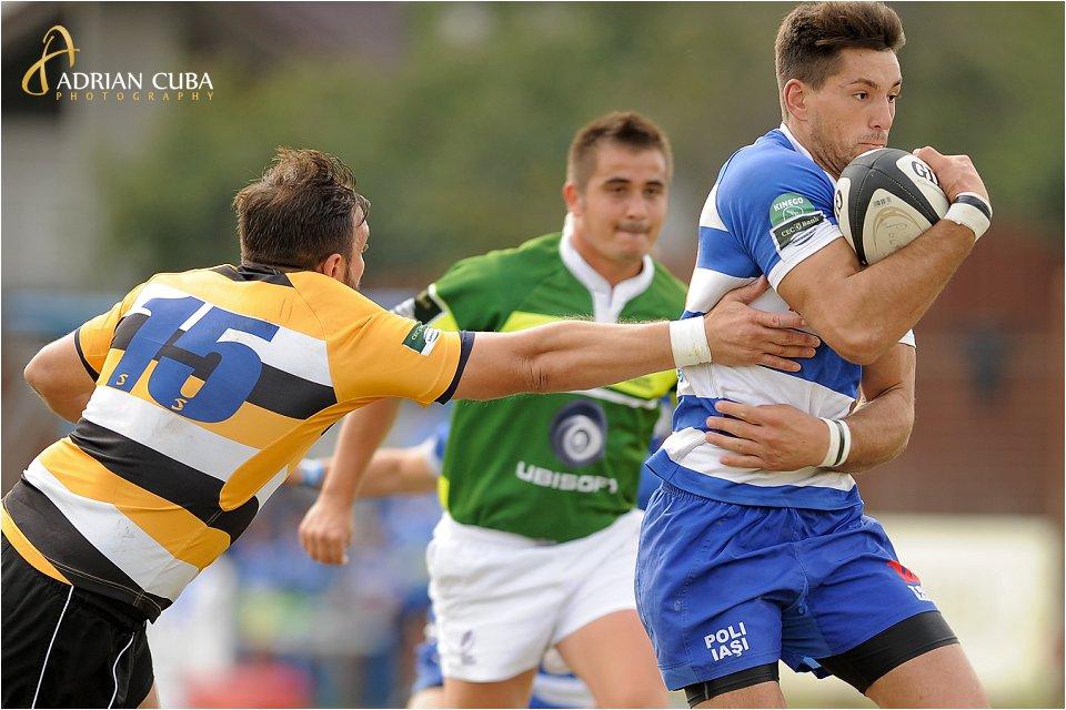 Meciul de rugby dintre Politehnica Iasi si CSM Olimpia Bucuresti in cadrul etapei a doua din Cupa Regelui