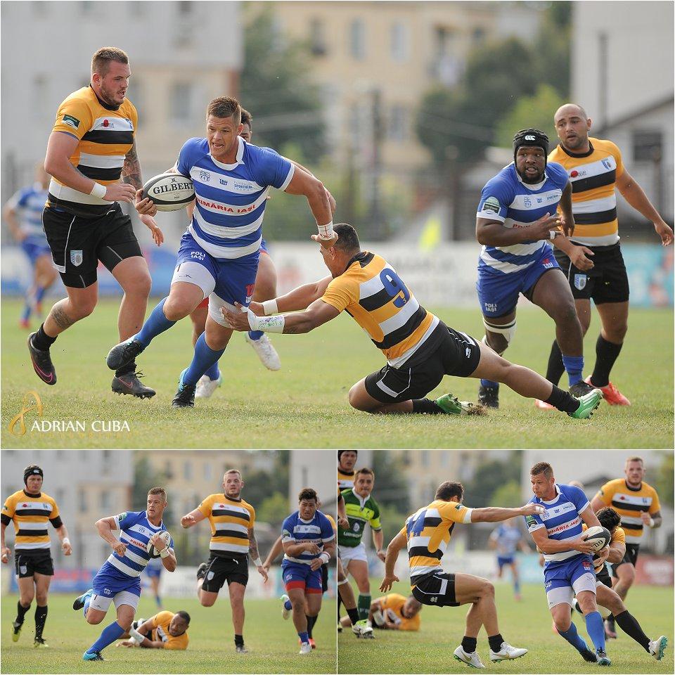 Poli Iasi-CSM Olimpia Bucuresti inetapa a doua din Cupa Regelui la rugby.