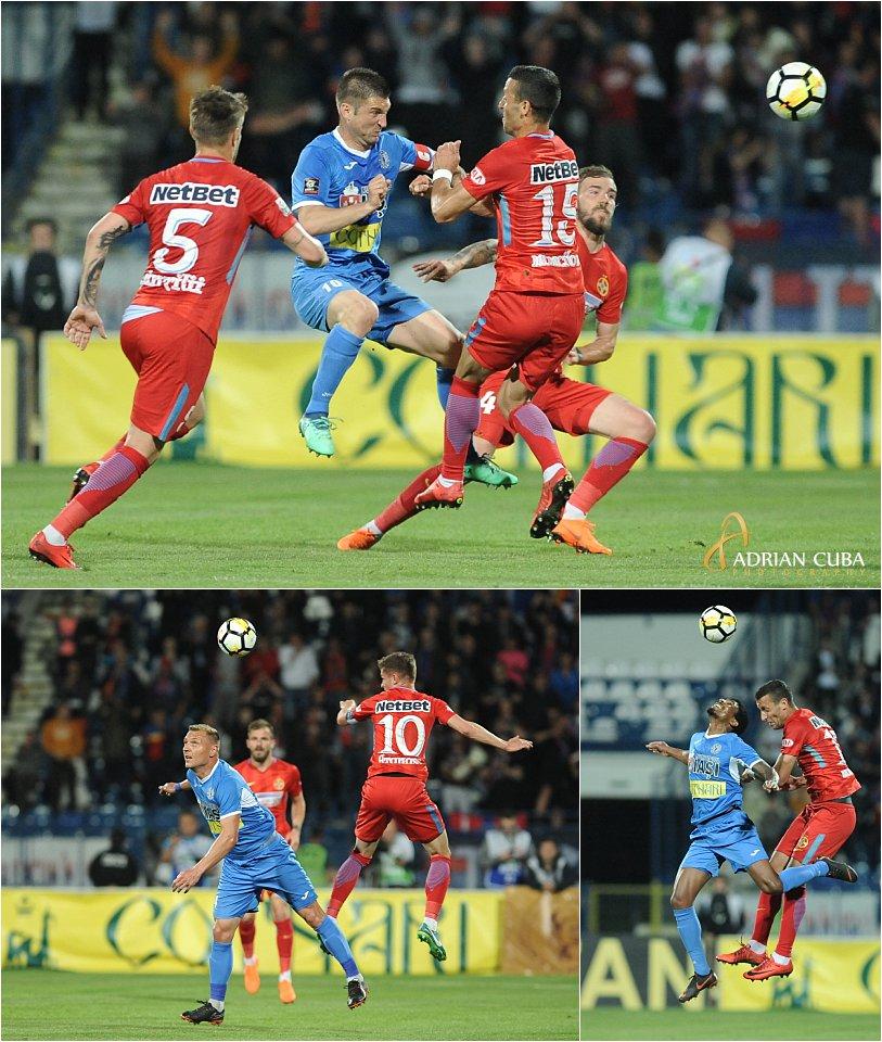 Andrei Cristea la meciul de fotbal CSMS-FCSB