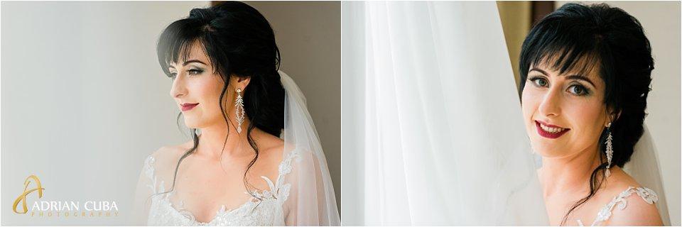 Portret de mireasa, fotograf nunta Iasi Adrian Cuba