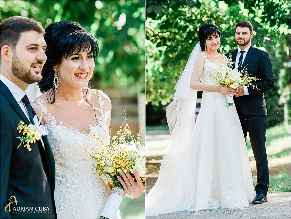 Portret mire si mireasa la sesiune foto nunta Iasi