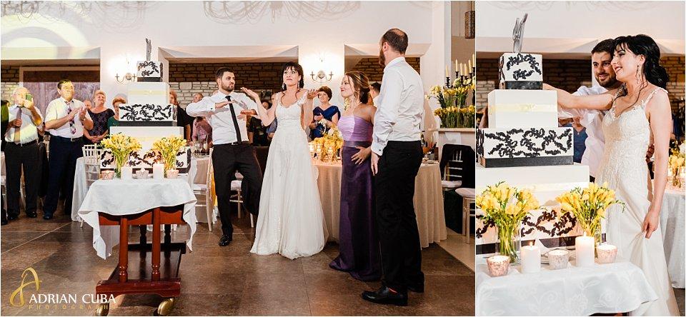 Tortul miresei, tort de nunta la restaurant Rustic Bellaria Iasi.