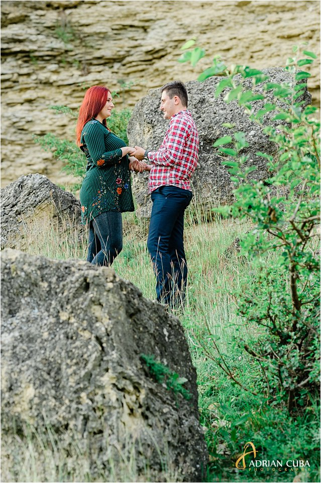 Sesiune foto logodna in natura Iasi