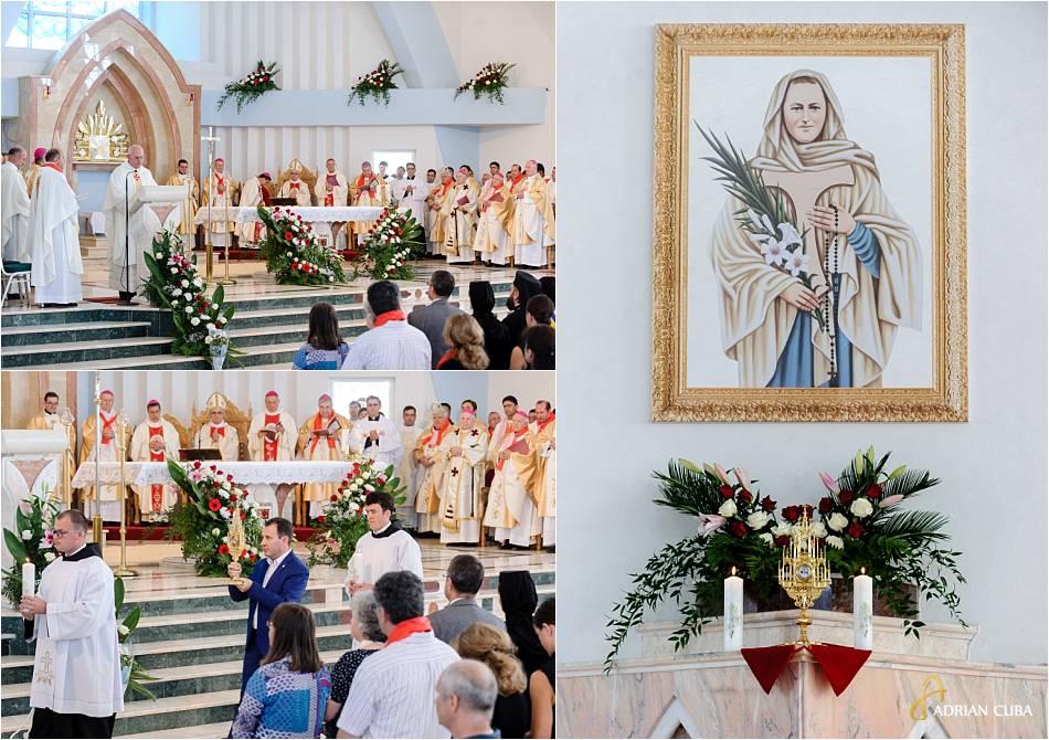 """Altarul fericitei Veronica Antal, din biserica """"Ädormirea Maicii Domnului""""de la Nisiporesti."""