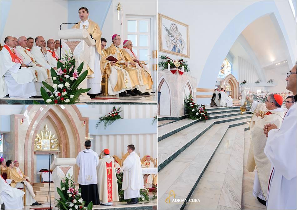 Sfintirea altarului fericitei Veronica Antal.