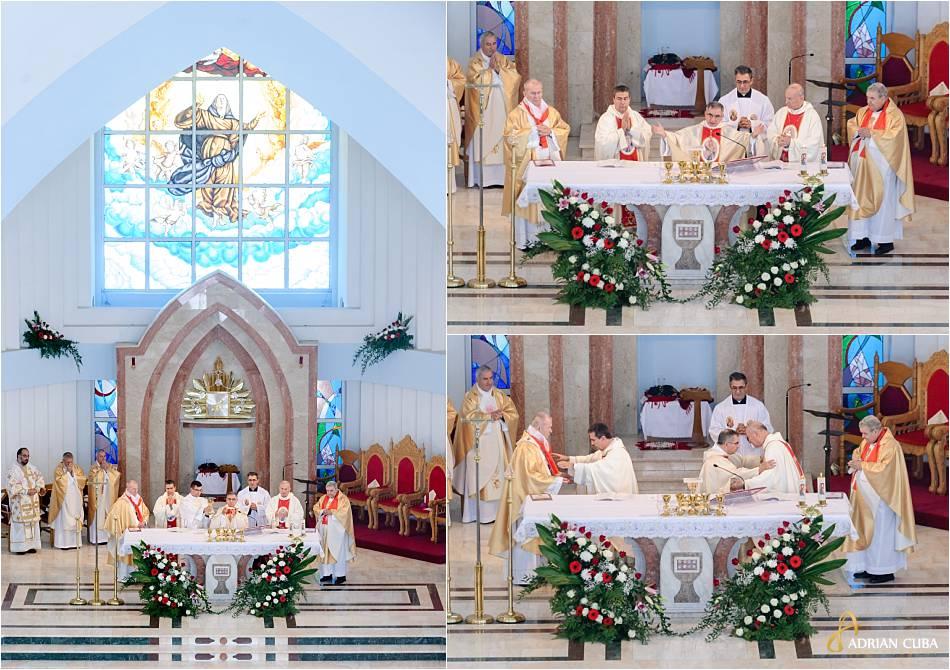 Cardinalul Giovanni Angelo Becciu impreuna cu episcopii celebreaza slujba de beatificare a fericitei Veronica Antal.