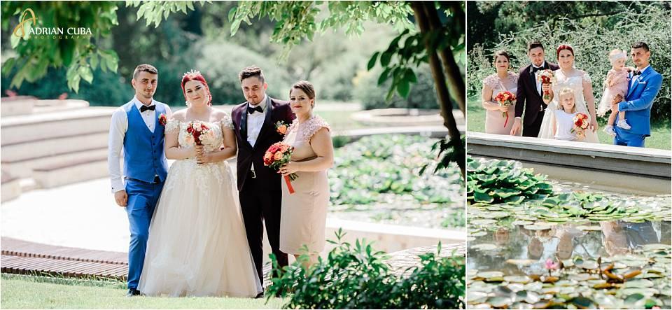 Mirii impreuna cu nasii la sedinta foto de nunta la Iasi.