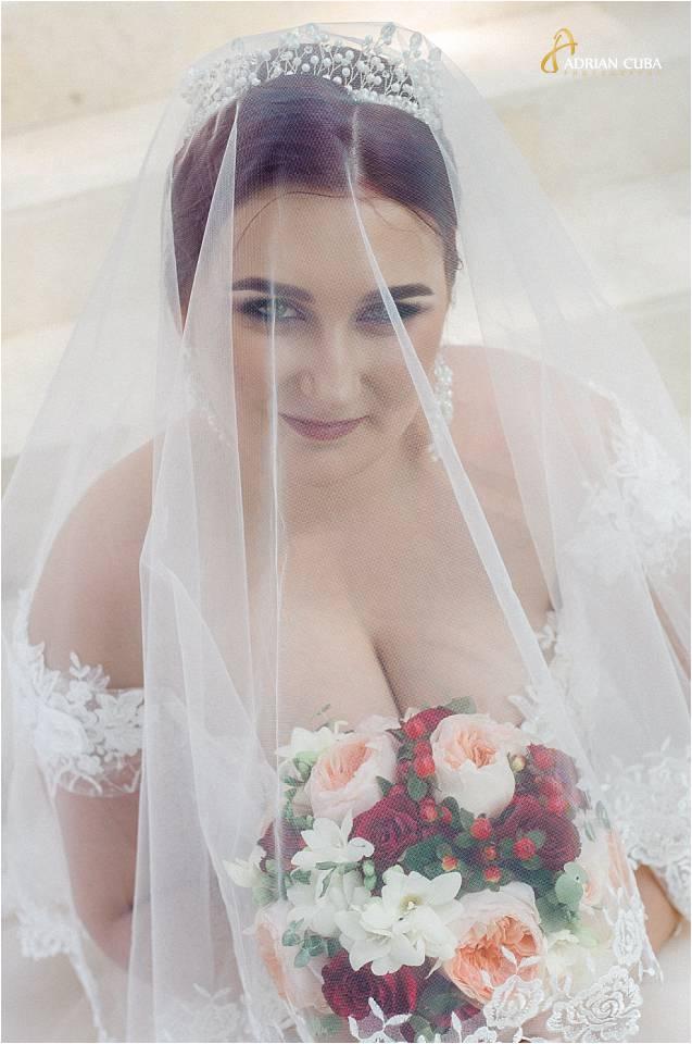 Portret de mireasa la sedinta foto nunta iasi.
