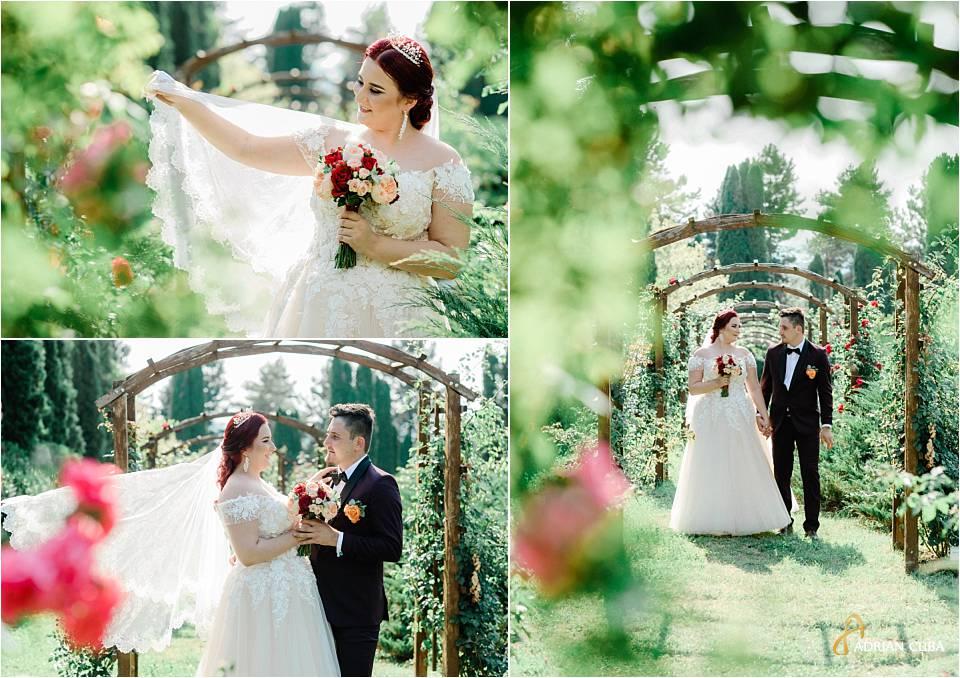 Miri la sedinta foto nunta Gradina botanica iasi.