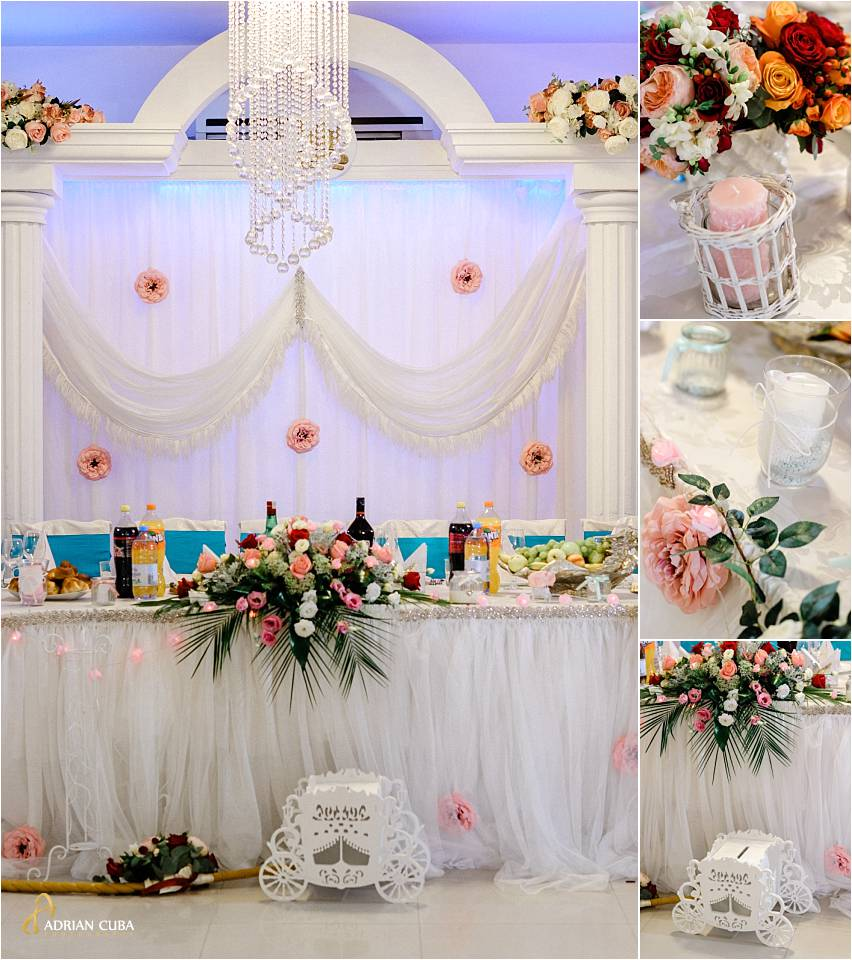 Detalii amenajare sala nunta restaurant Titanic Iasi