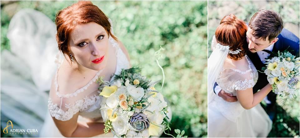Mireasa la sedinta foto de nunta Iasi.