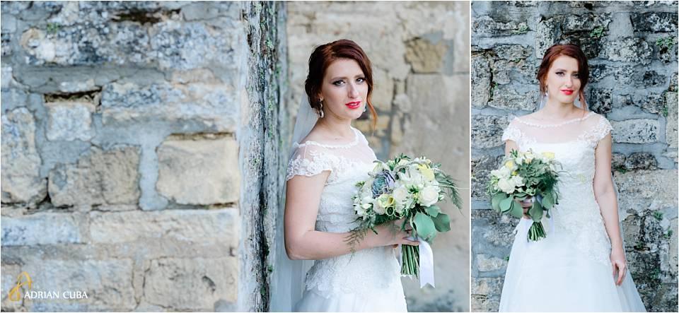 Mireasa la sesiunea foto de nunta, la Iasi.
