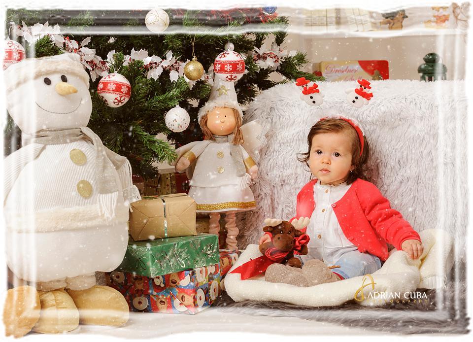 Copii la sedinta foto de Craciun in studio foto Iasi Adrian Cuba