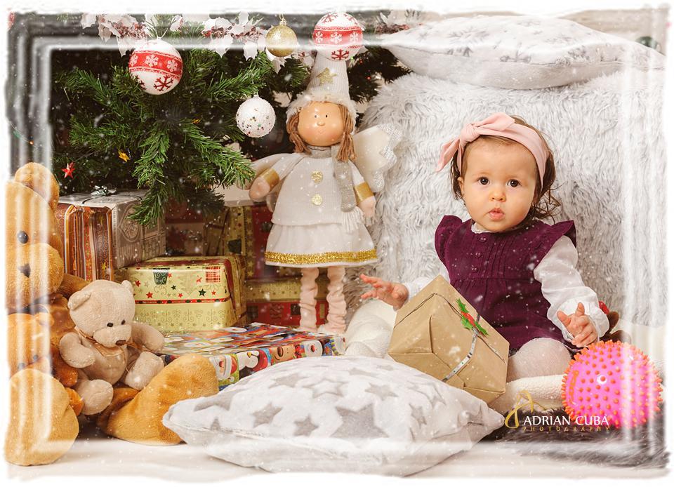 sedinta foto copii de Craciun in studio foto Iasi