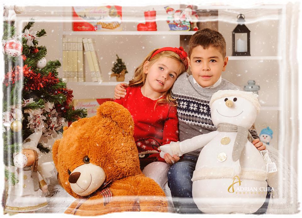 Sedinta foto copii Craciun la studio foto Iasi Adrian Cuba.