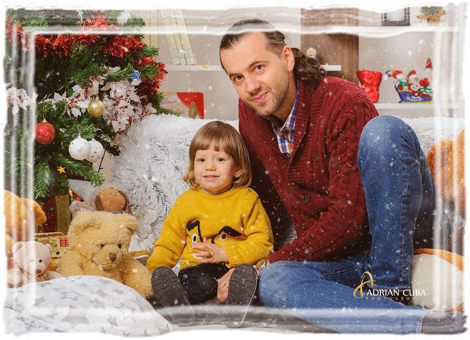Sedinta foto copii Craciun in studio foto Iasi Adrian Cuba.