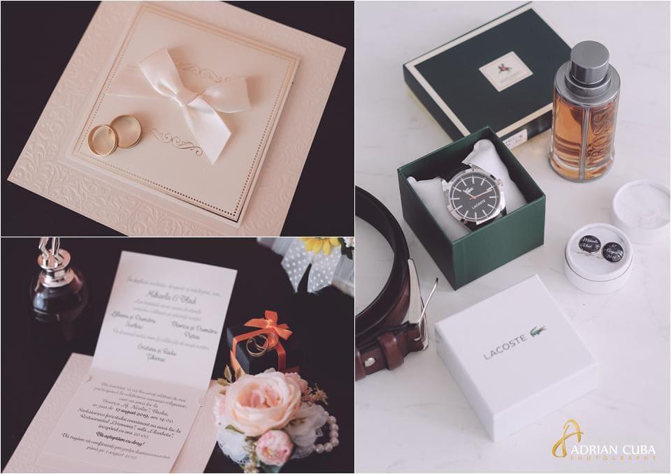 Fotografie detalii nunta la gatitul mirilor