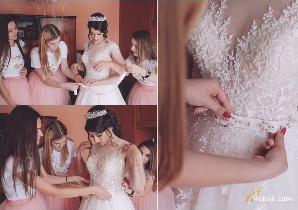 Fotograf gatitul miresei la nunta Vaslui.