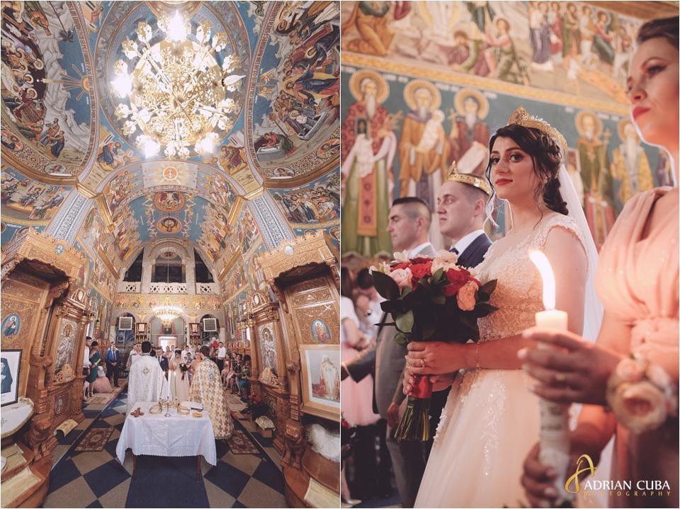 Cununia religioasa la nunta Vaslui, biserica Sfantul Nicolae.