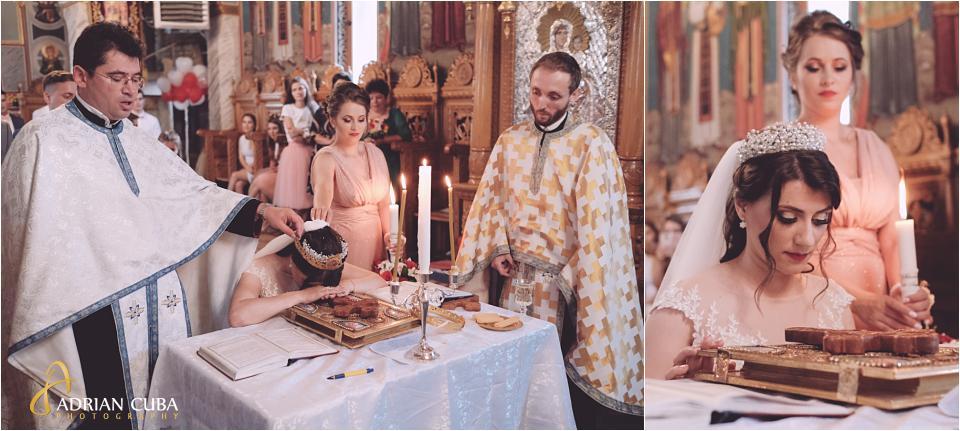 Nasa si mireasa la cununia religioasa in Vaslui.