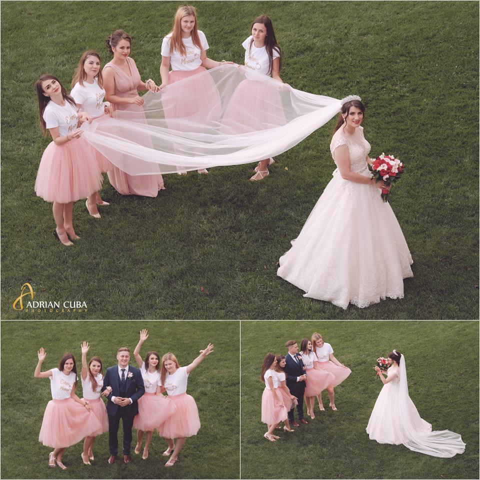 Mirele, mireasa si domnisoarele de onoare la sedinta foto nunta Vaslui.
