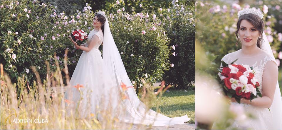 Mireasa la sesiunea foto nunta Vaslui