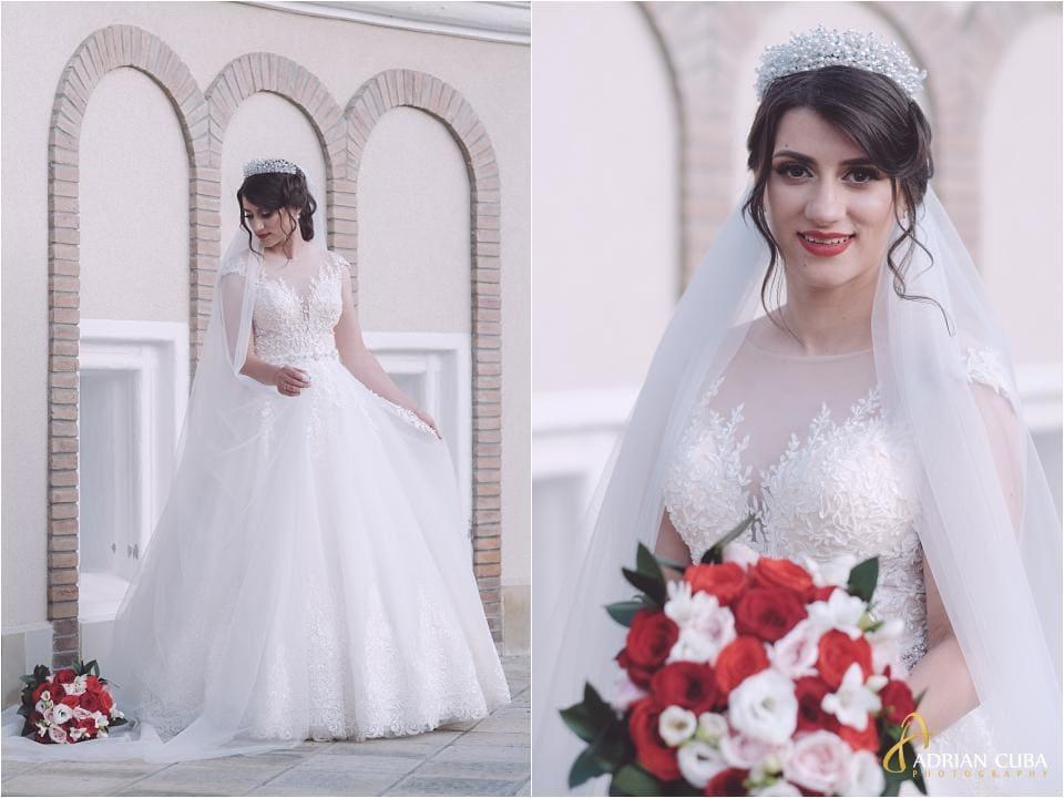 Mireasa la sedinta foto de nunta in Vaslui.