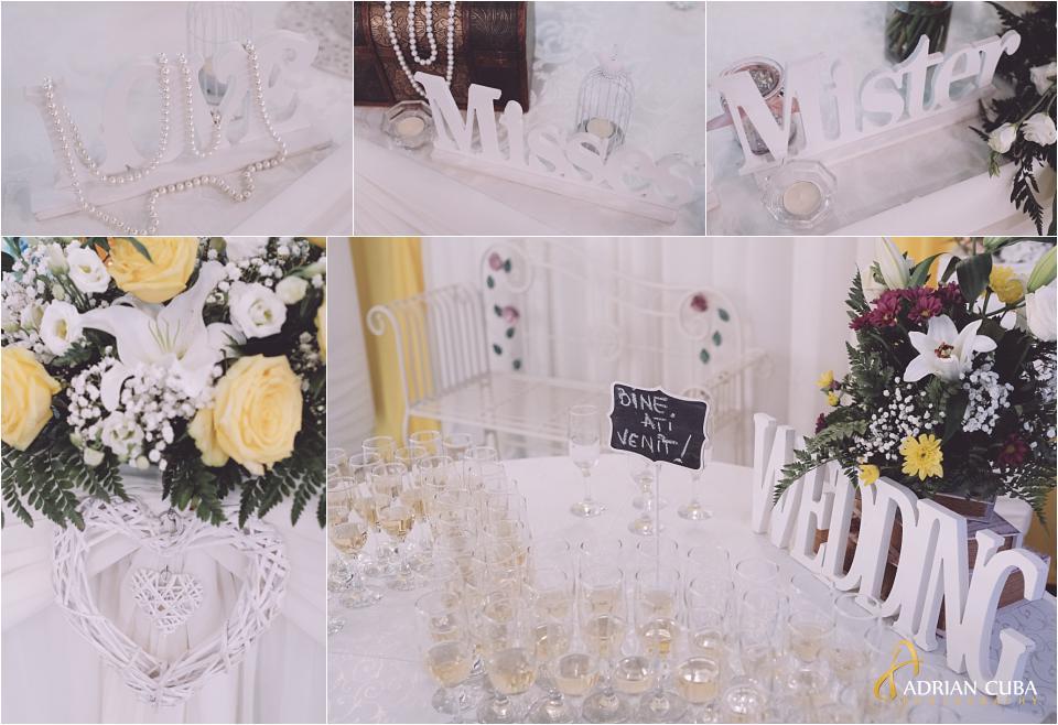 Detalii nunta la restaurant Crismona Vaslui.