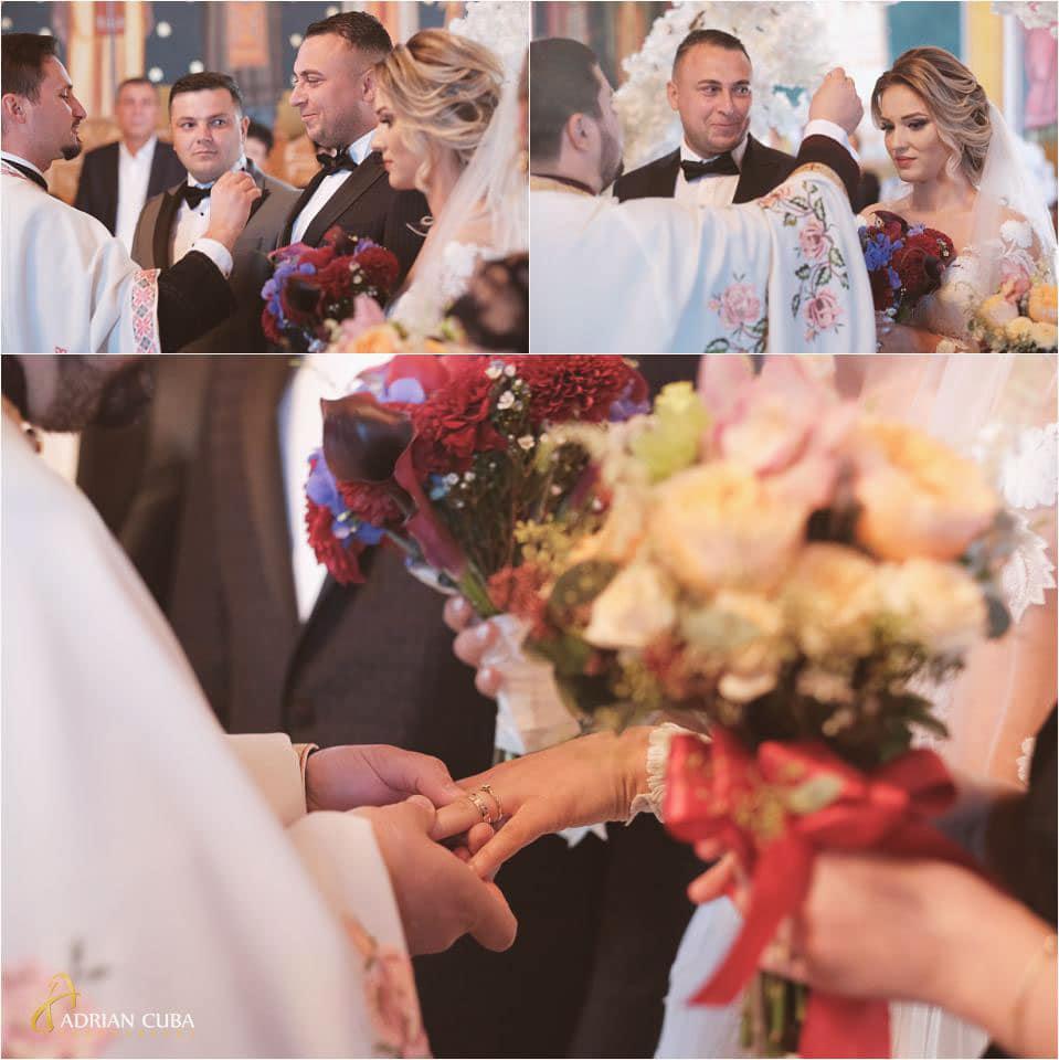 Foto nunta Barlad, mirii in biserica