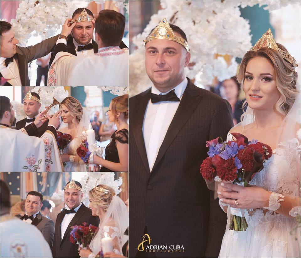 Fotografie de nunta la Barlad, mirii in biserica