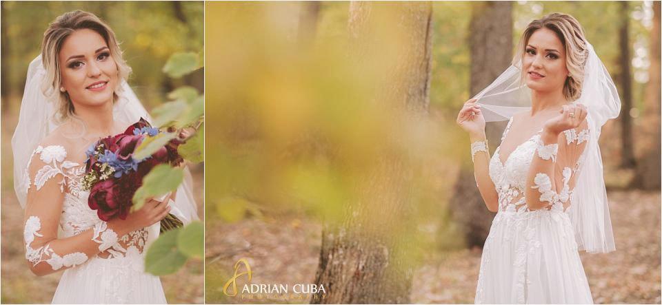 Foto nunta Barlad, portret mireasa la sedinta foto in natura