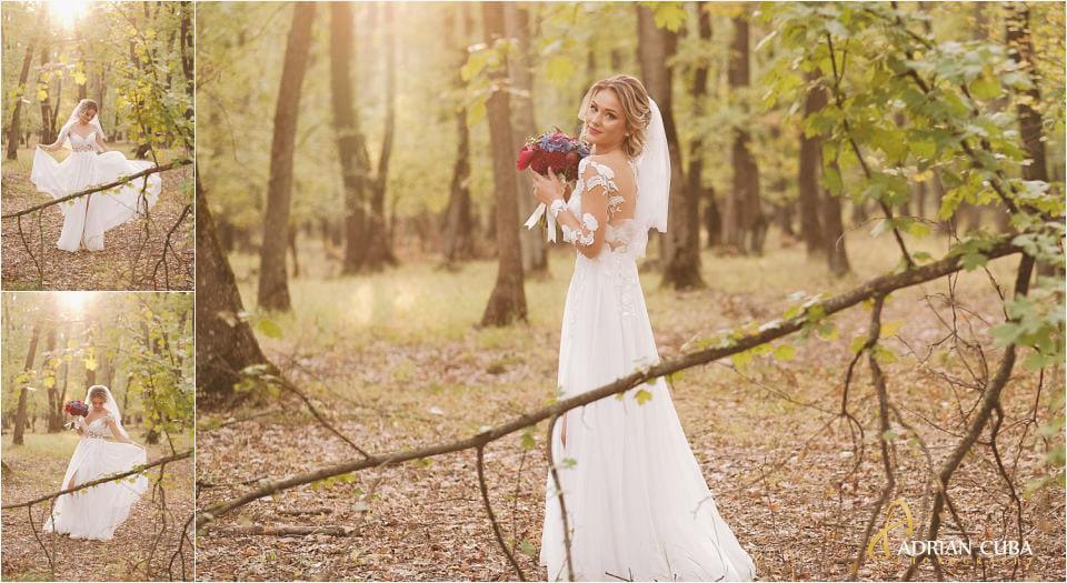 Mireasa la sedinta foto de nunta in Barlad Vaslui, rochie de mireasa, buchet mireasa
