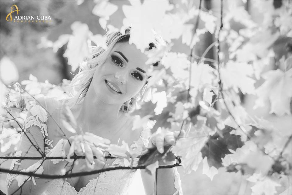 portret de mireasa la sedinta foto nunta Barlad Vaslui, fotograf nunta Iasi