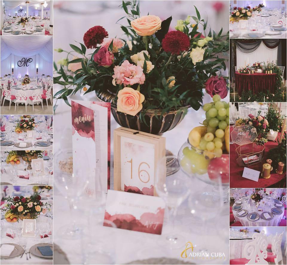 Detalii foto amenajare restaurant Mira la nunta barlad