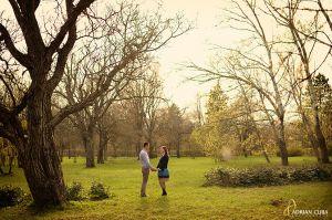 fotografii logodna, gradina botanica iasi